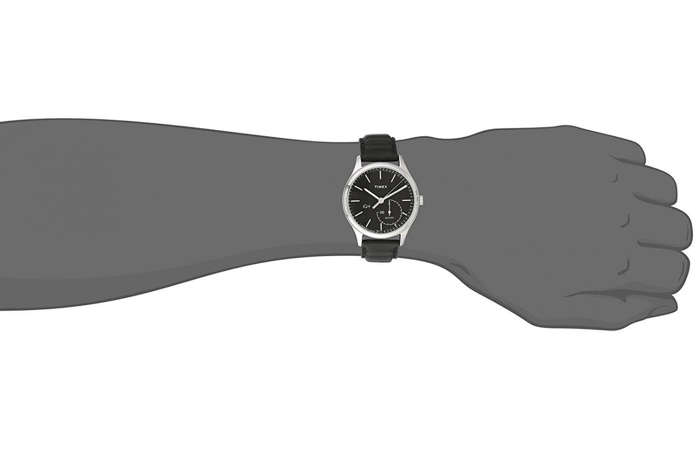 The Timex IQ + Move is Bluetooth enabled