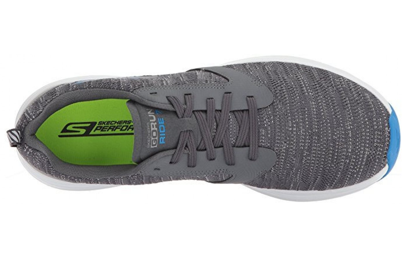 The Skechers GORun Ride 7 lacing system