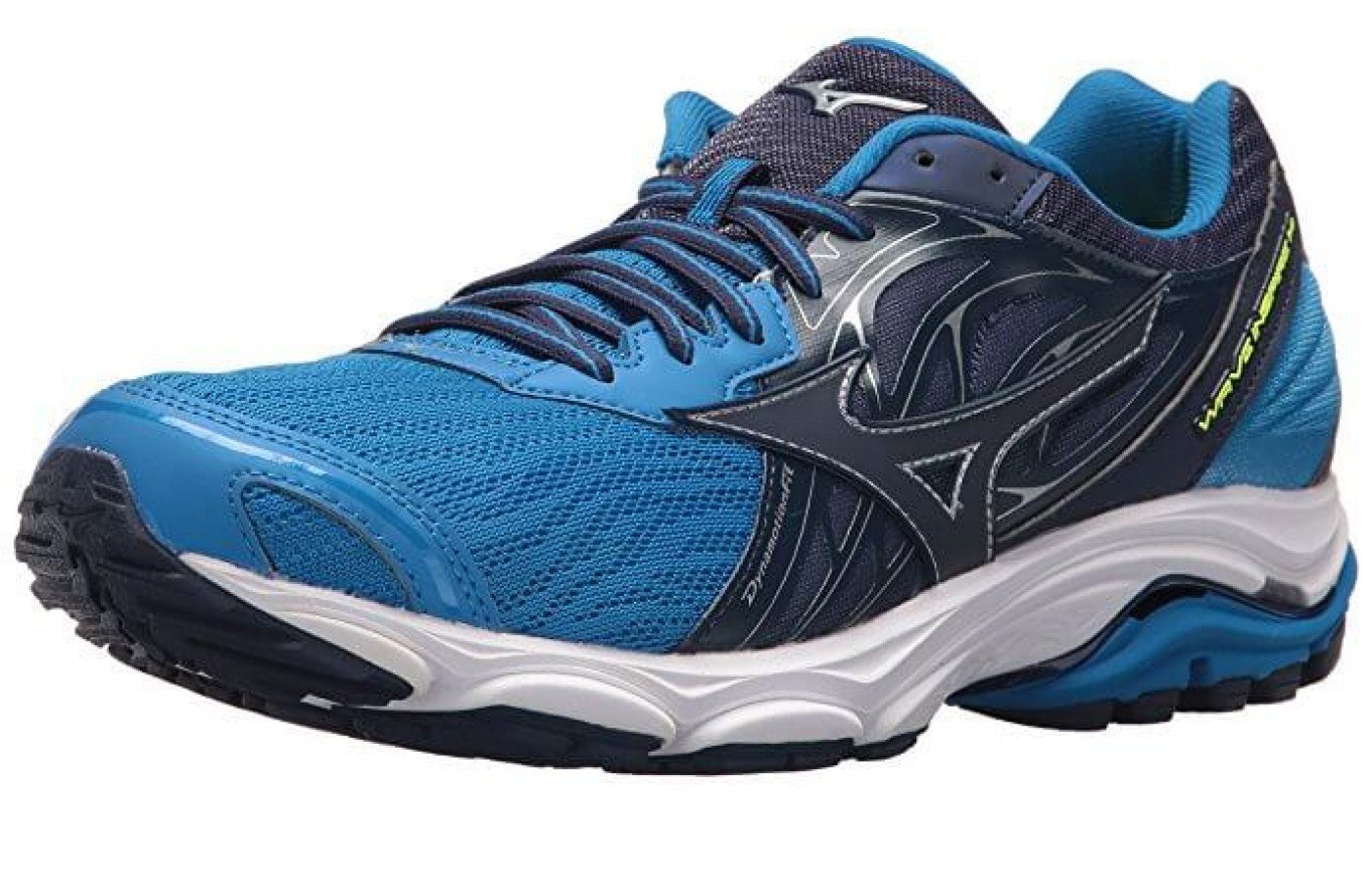 The Mizuno Wave Inspire 14 angled side perspective
