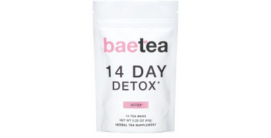 The best weight loss teas help to relieve bloating and detox the body like Baetea.