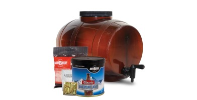 The best home brew kits like the Mr. Beer Premium Gold Edition Homebrewing Craft Beer Kit have the main equipment and ingredients needed to make beer at home.
