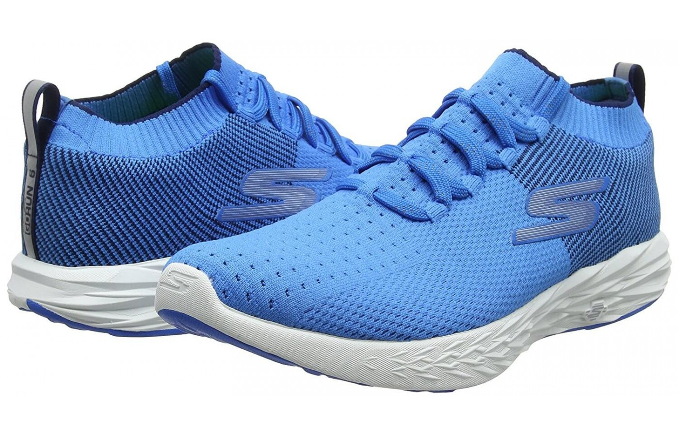 The Skechers GoRun 6 has a new knit upper design with a sock-like fit