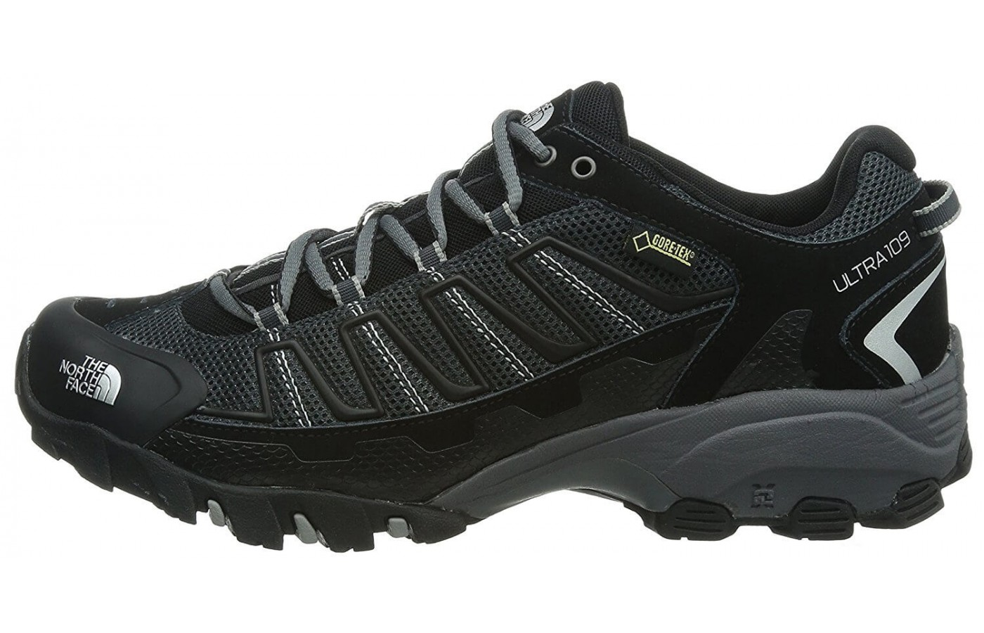 The The North Face Ultra 110 GTX has an ESS rock plate for protection