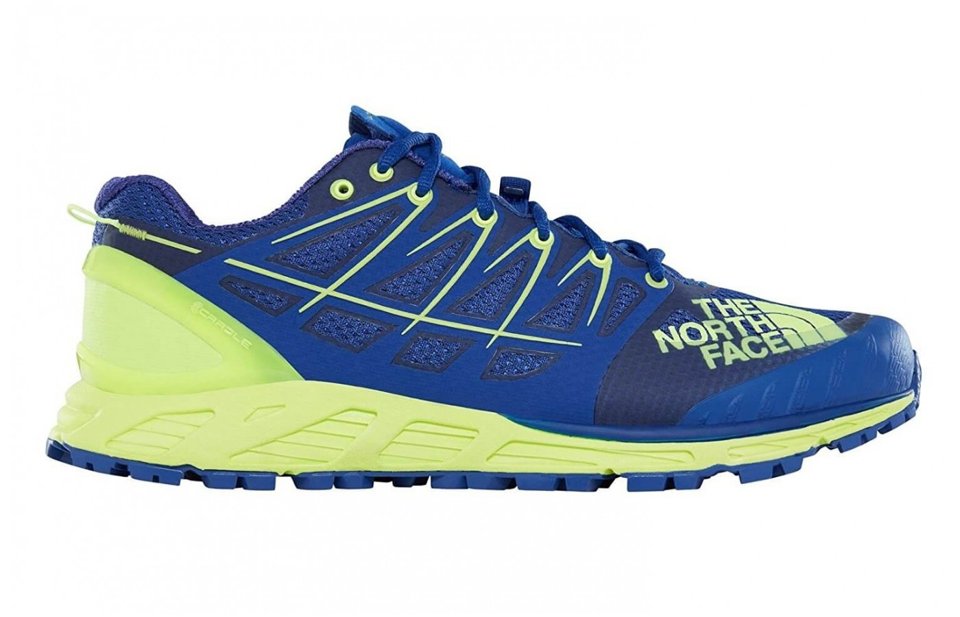The The North Face Ultra Endurance II features a mesh upper
