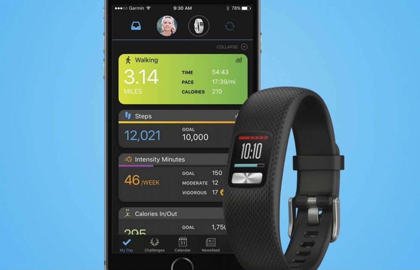 This watch is compatible with the easy to use Garmin Connect App.