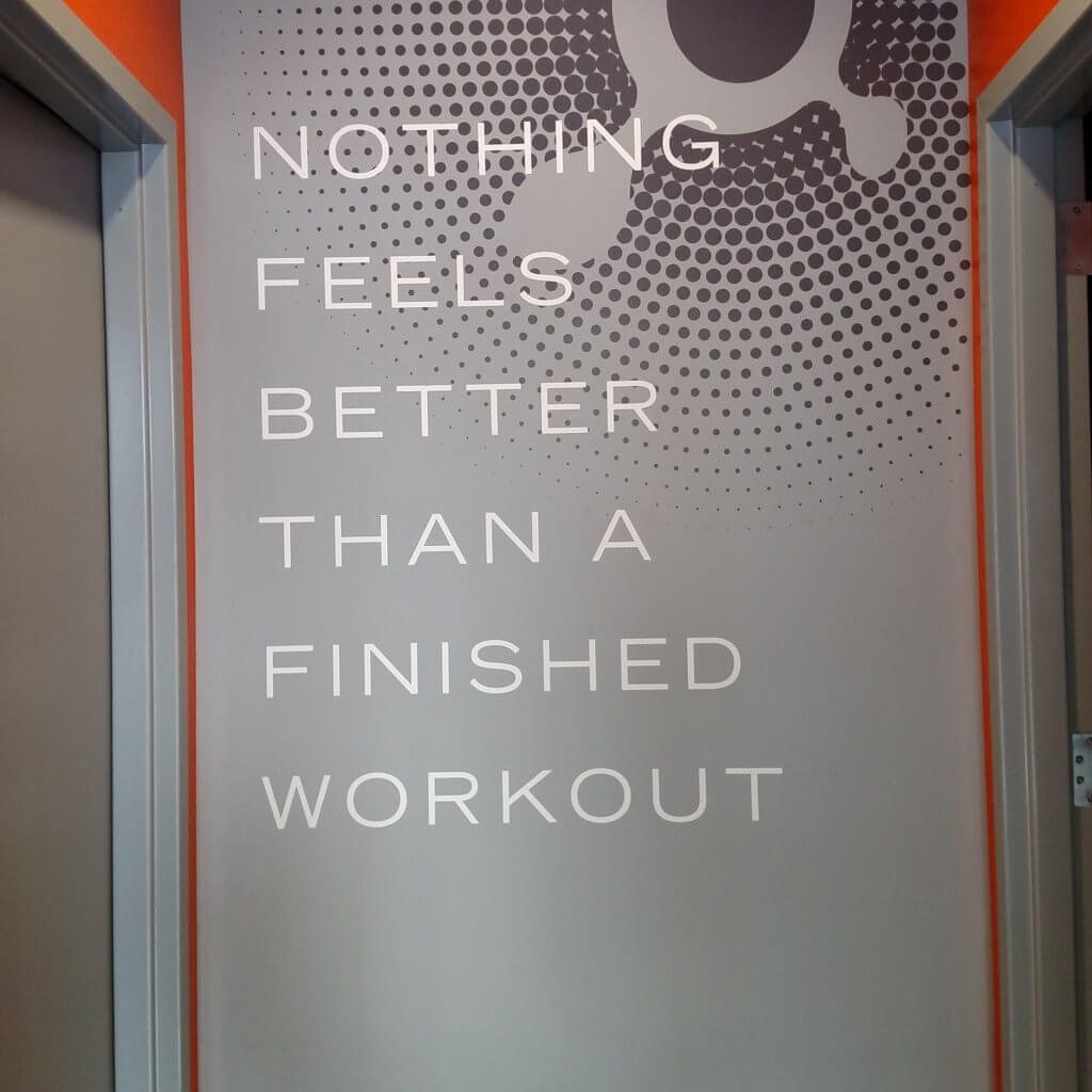 Nothing feels better than a finished workout