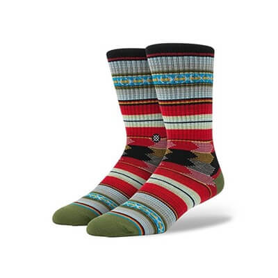 Stance Guadelupe Tribal Stripe Arch Support Classic Crew Socks