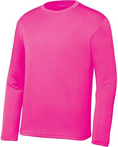 DRI-EQUIP Long Sleeve Moisture Wicking Athletic Shirts in Mens
