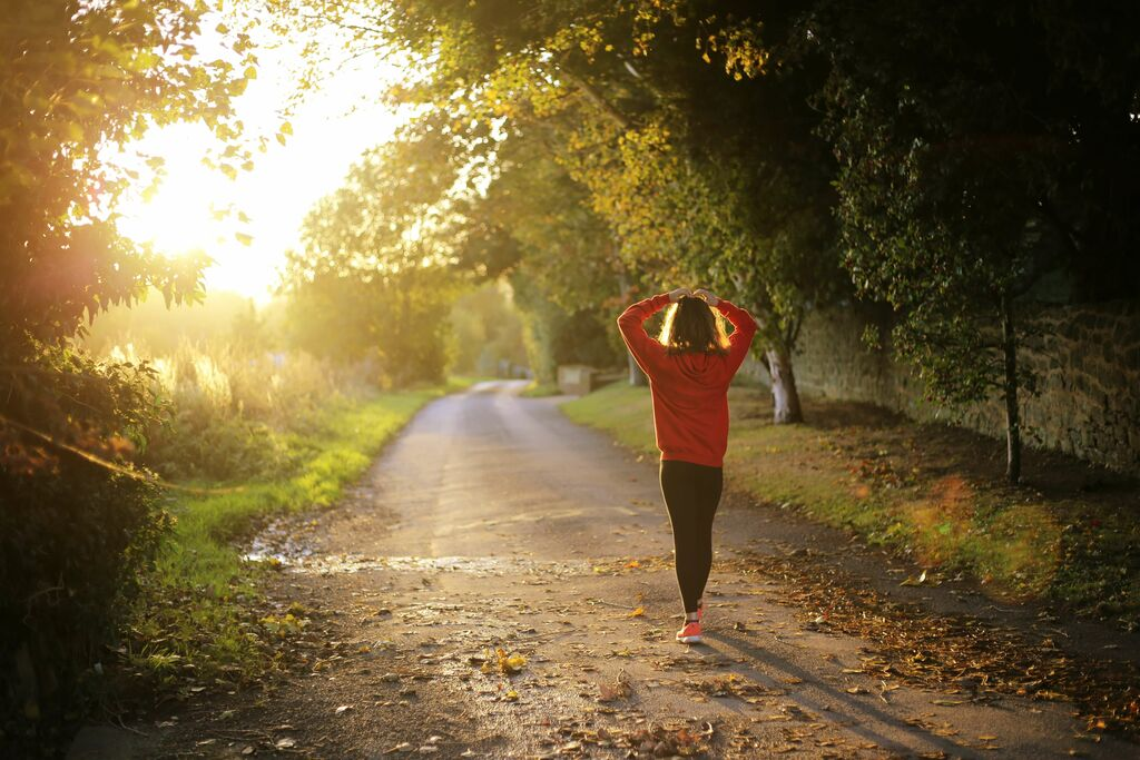 The recovery run is important to prevent soreness.