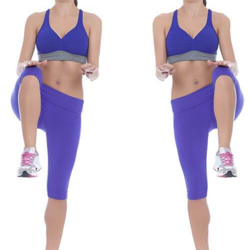High Knees running in place exercise