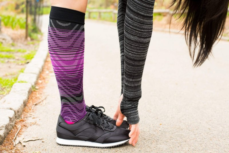 compression socks and runners
