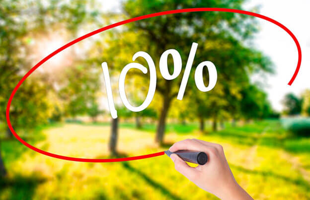 how to apply the 10-percent rule