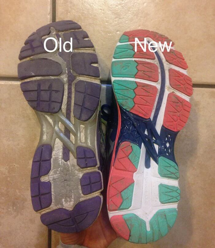 how do I know if running shoes are worn out