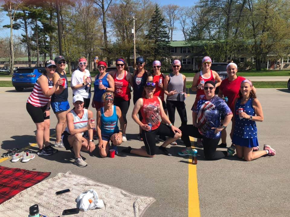 Red, White and Blue Seltzers forMemorial Day Run