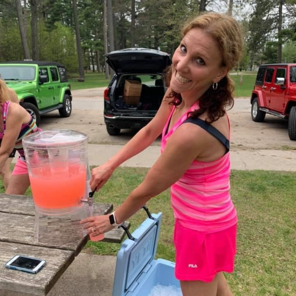 pink themed run right down to the spiked pink lemonade