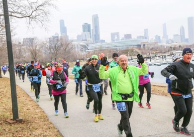 This half marathon attracts the seriously dedicated runners to Chicago each January.