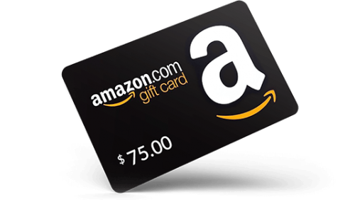 WIN A $75 GIFTCARD FOR AMAZON! 2 GIFT CARDS EVERY MONTH